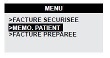 memo patient